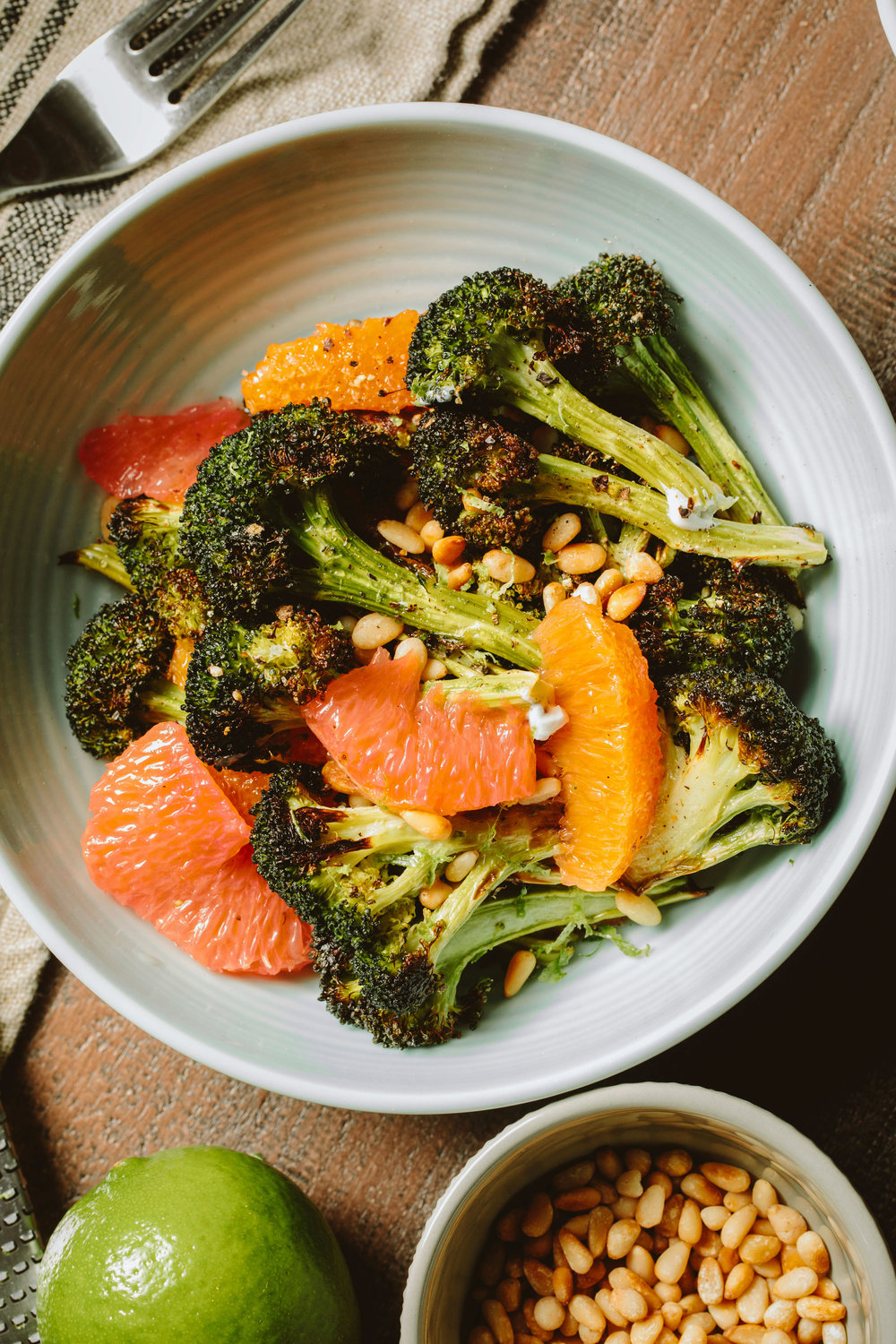 Roasted Broccoli and Citrus Salad with Labneh - A Thought For Food