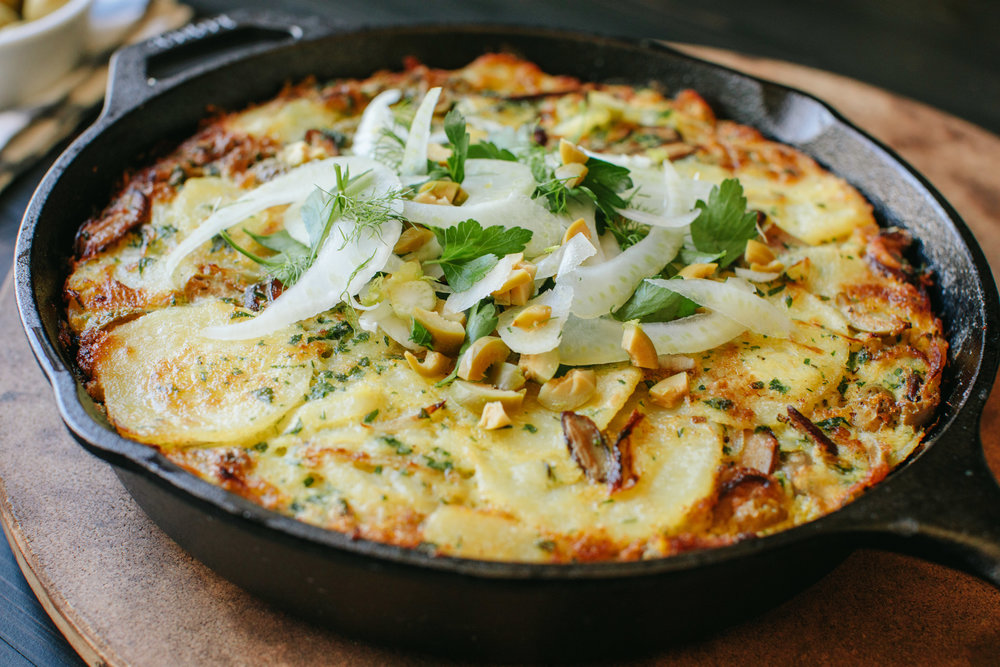 Olive and Shiitake Mushroom Spanish Tortilla - A Thought For Food