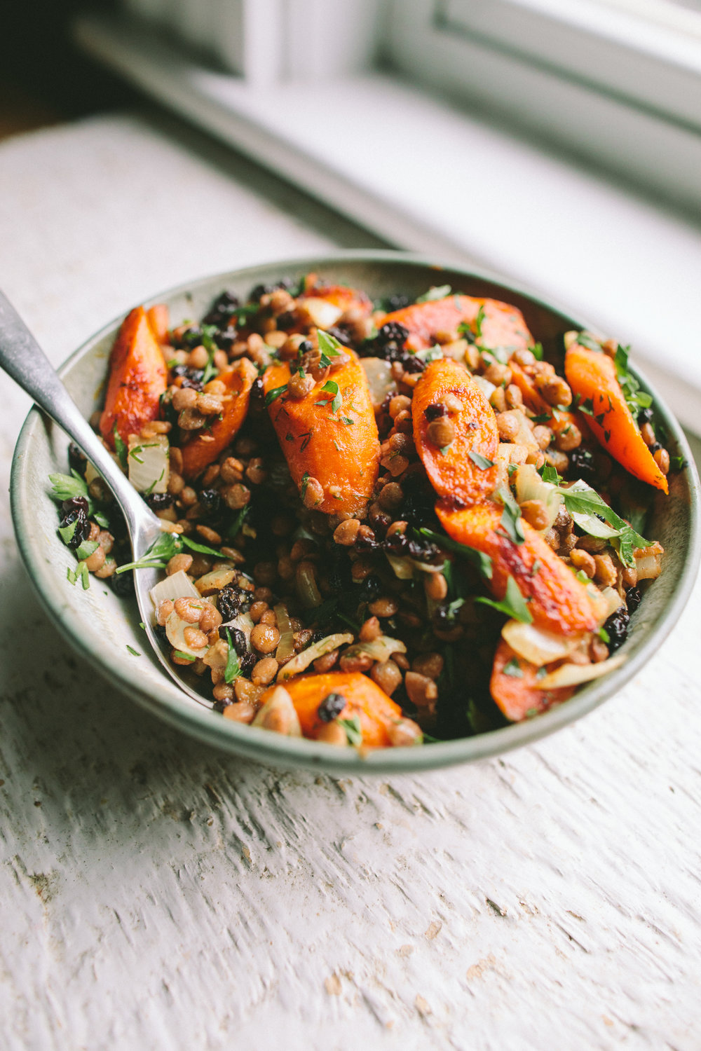 Moroccan Carrot and Lentil Salad | A Thought For Food (www.athoughtforfood.net)