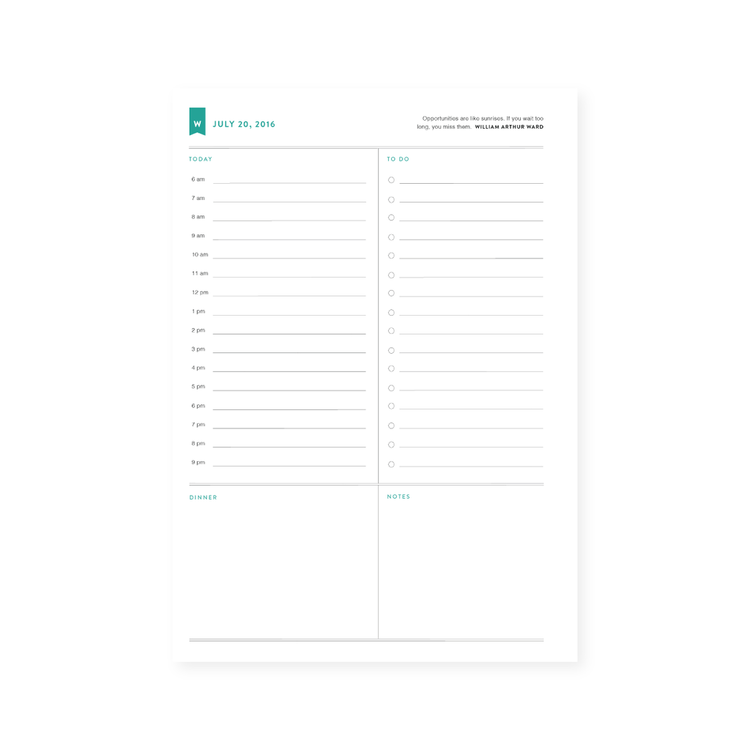 day planner with time slots
