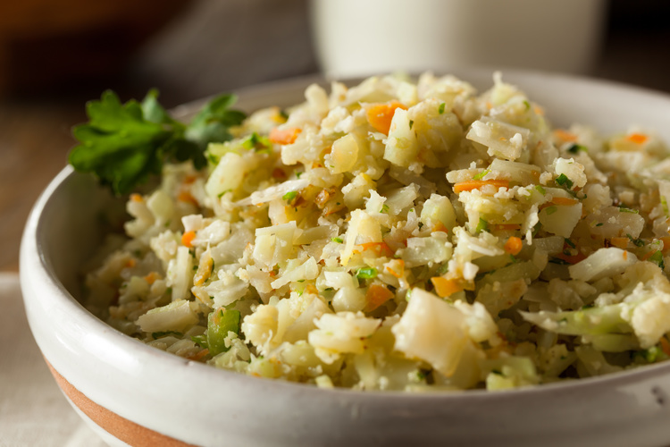 CauliRice: tasty, filling and low in calories.