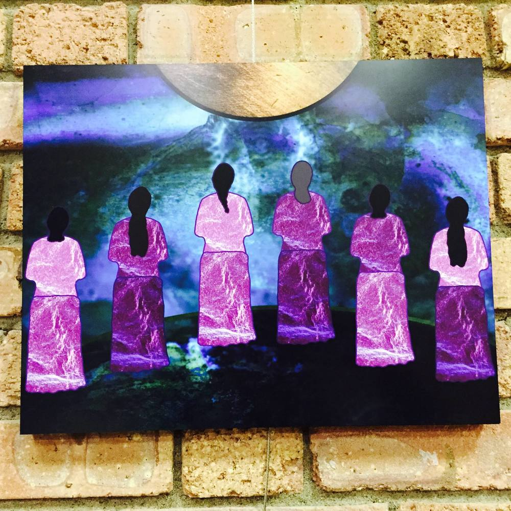 """The Women, They Hold the Ground,"" Elizabeth LaPensée, 2015 In the ""All About Eve"" Exhibition at Gimaajii in Duluth, Minnesota"