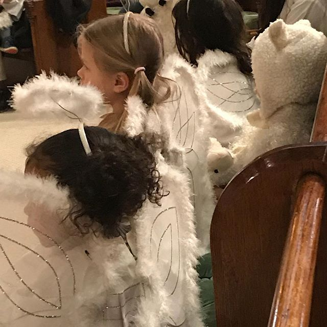 Angels and sheep worship here together. #PageantSunday