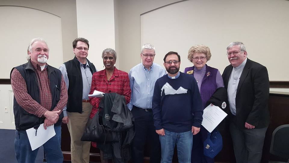 Presbyterian participants with Ruth Lowe.