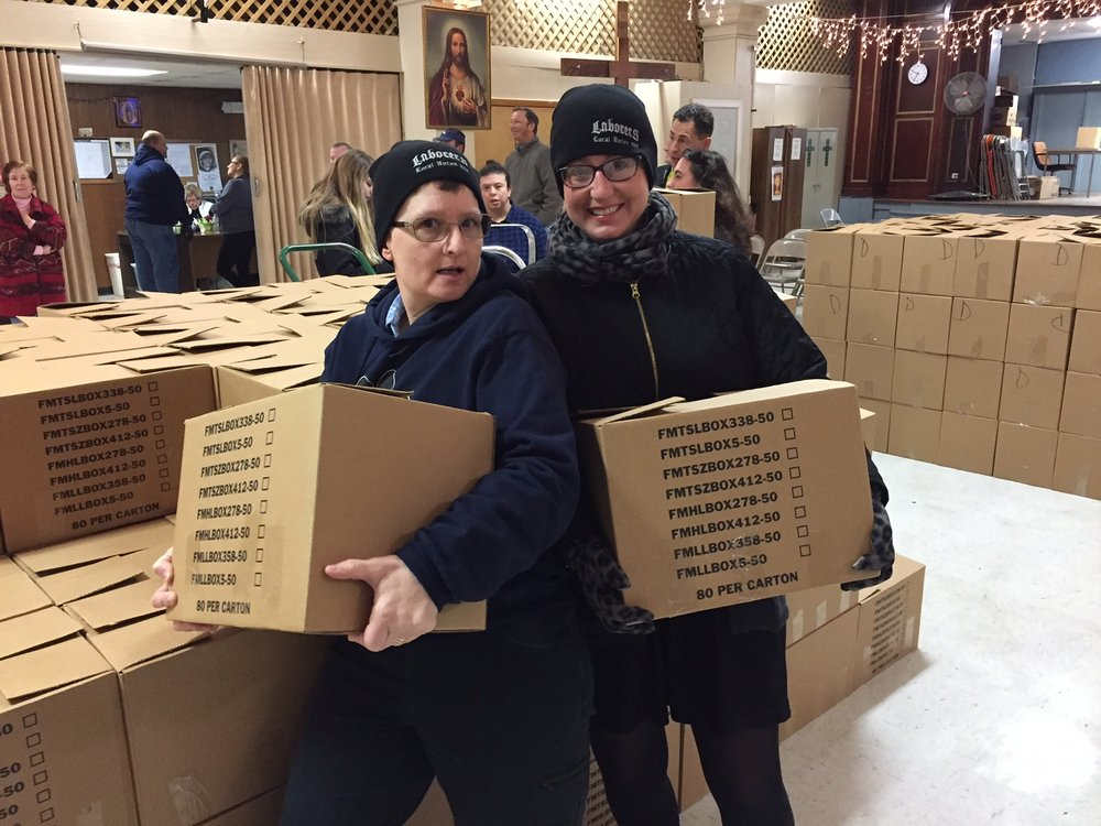 Mary Lou Corbin (Zambarano) and Tracey McConnell (Judiciary) strike a pose!
