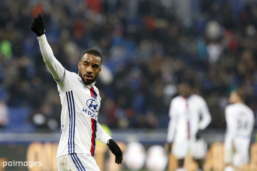 Lacazette has 17 goals in 16 Ligue 1 starts this season
