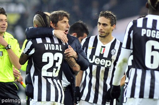 Vidal played under Conte at Juventus