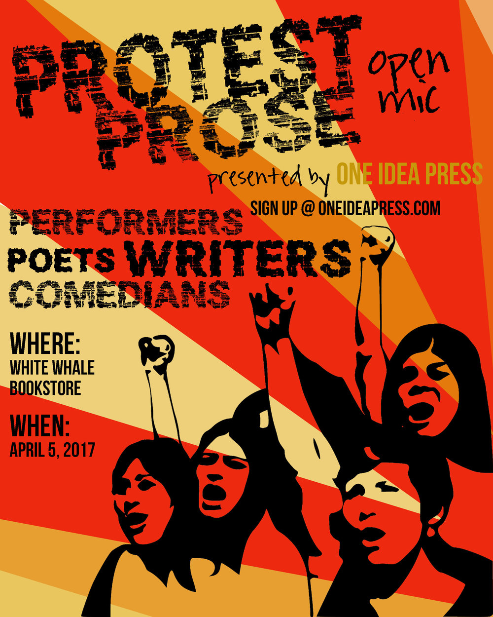Protest Prose Open Mic Event — White Whale Bookstore