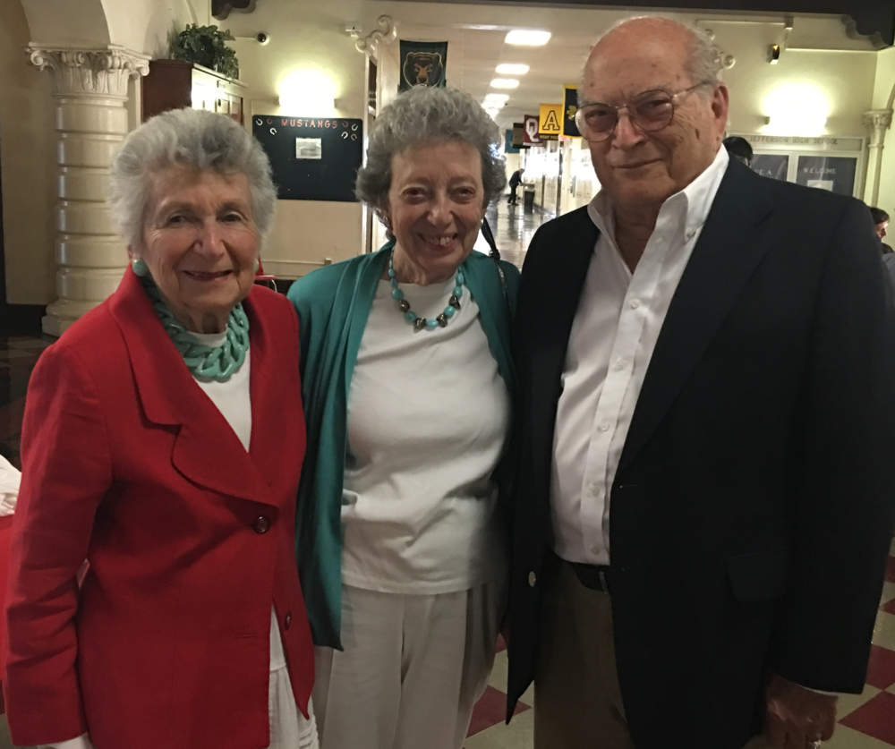 Marcia with her sister and Executive Producer, Judge Rose Spector and Morris Spector.