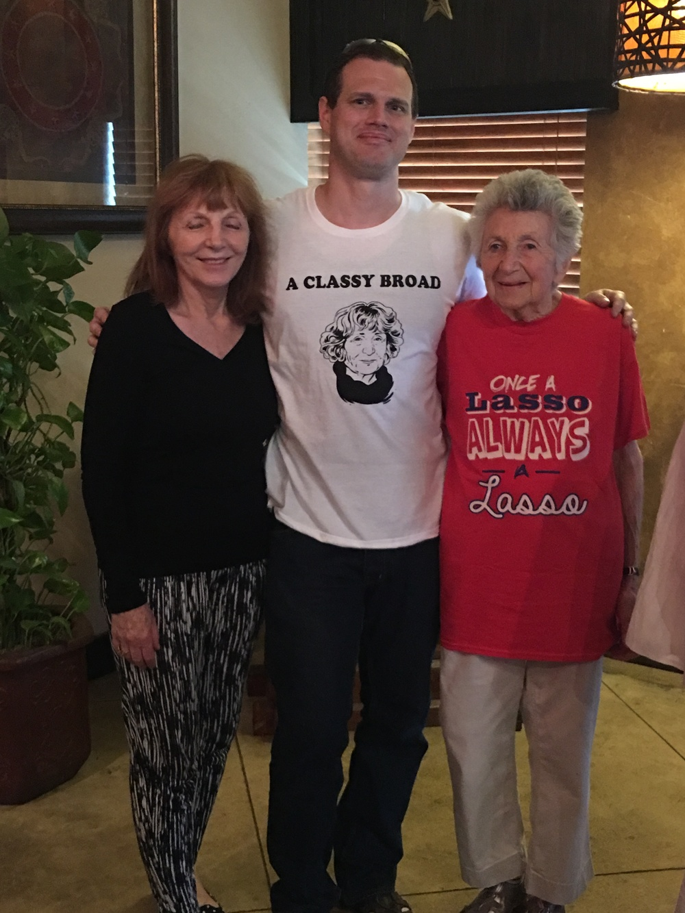 Anne and Marcia pictured with Wes Hughes (in our official ACB t-shirt)