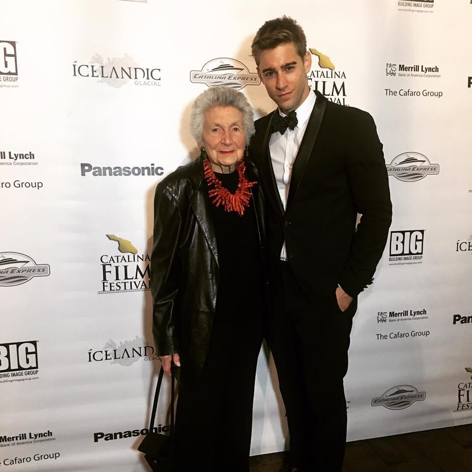 Marcia pictured with Luke Guldan, actor from ROCKAWAY film.