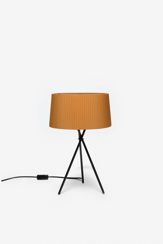 Good Santa U0026 Cole   Mustard Ribbon Tripod Table Lamp