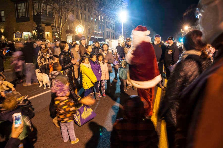 Santa visits Broadway. Photo by Nghia Luu