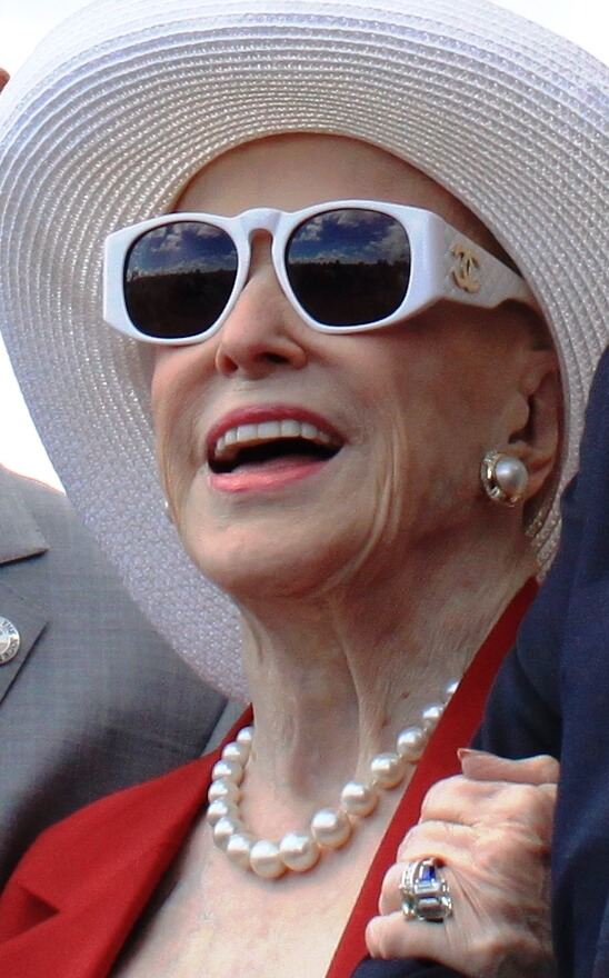 Marylou Whitney at Travers Day Saratoga August 2015