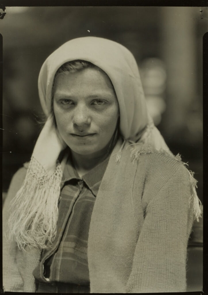 Lewis W. Hine – A Young German Just Arrived at Ellis Island, 1910 (Borrowed Light: Selections from the Jack Shear Collection)
