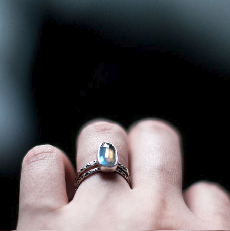 Labradorite Relic Rings by  Jay Cuneo