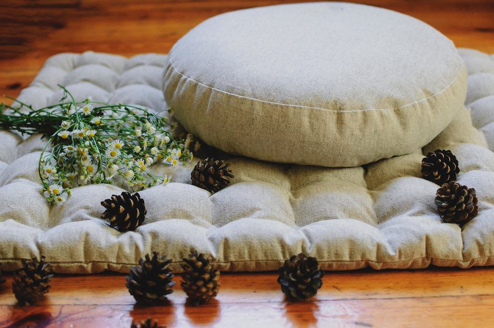 Zen your body...  Yoga Hemp Cushion by  HempOrganicLife