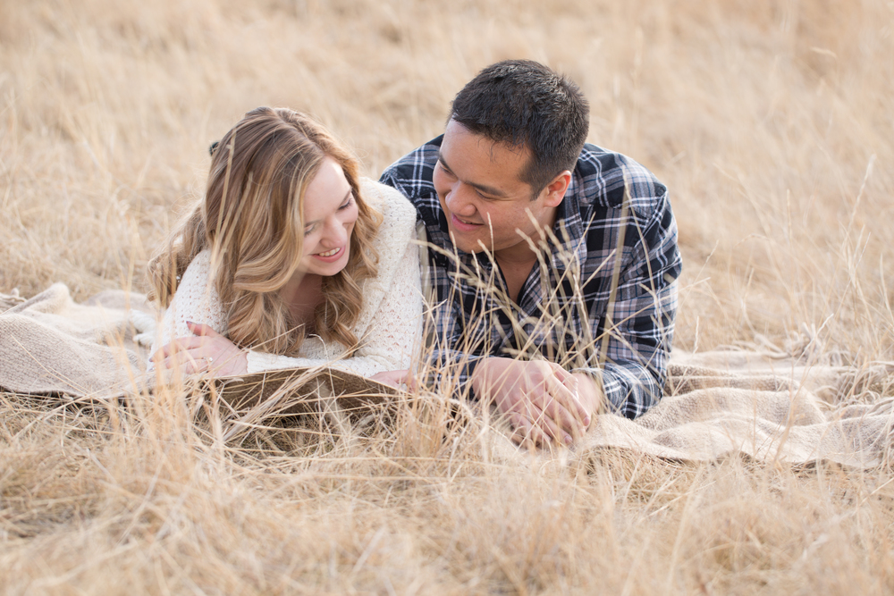 North Glenmore Park picnic engagement photograph