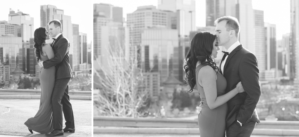 Downtown Calgary engagement photography