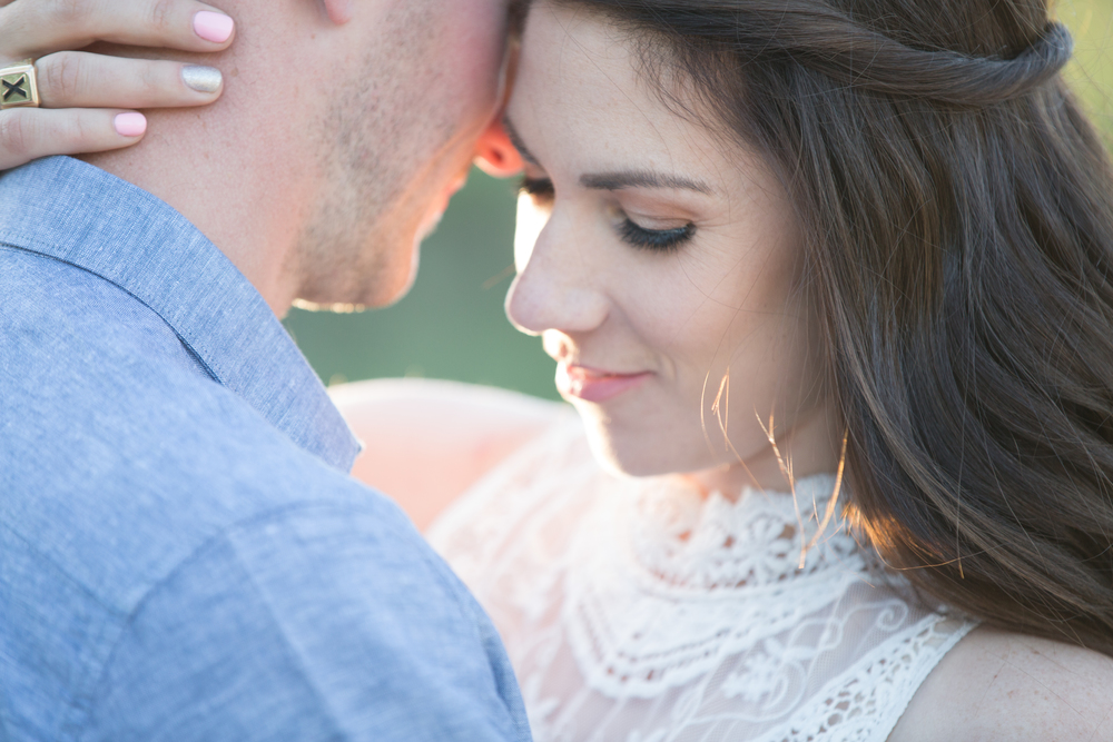 Romantic Fish Creek Park Engagement Photograph