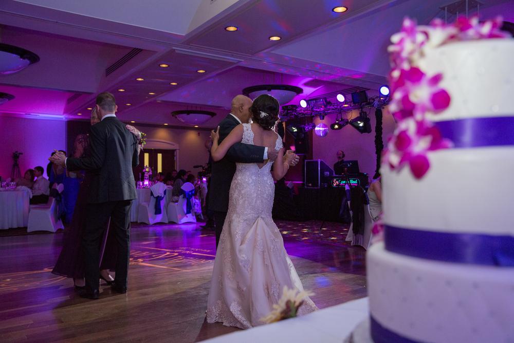 parent dances at wedding reception in Calgary