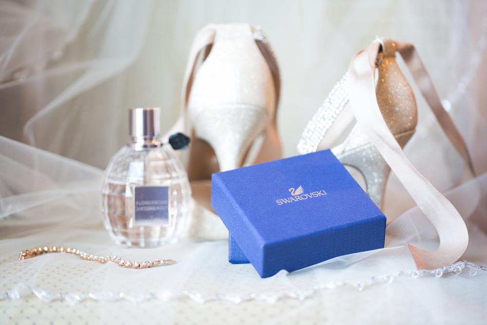 Calgary Wedding Photography Bridal details swarovski box