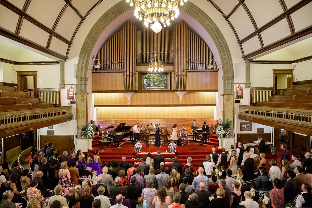 First Baptist Church wedding Calgary Alberta