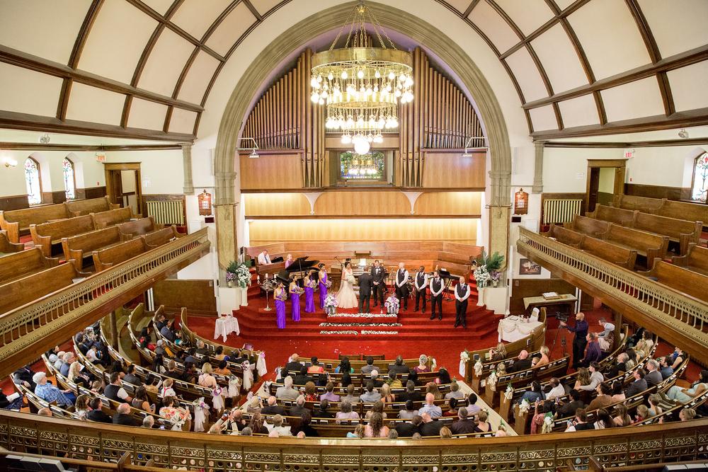 First Baptist Church wedding photograph Calgary