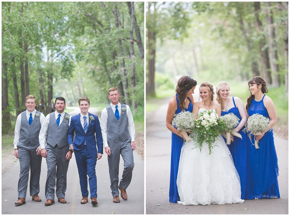Calgary Carburn Park Wedding Party Photography
