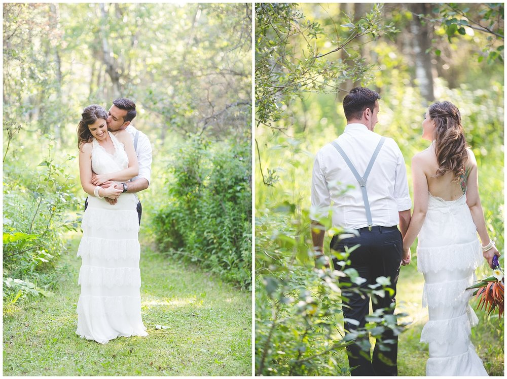 private Edmonton acreage wedding photography