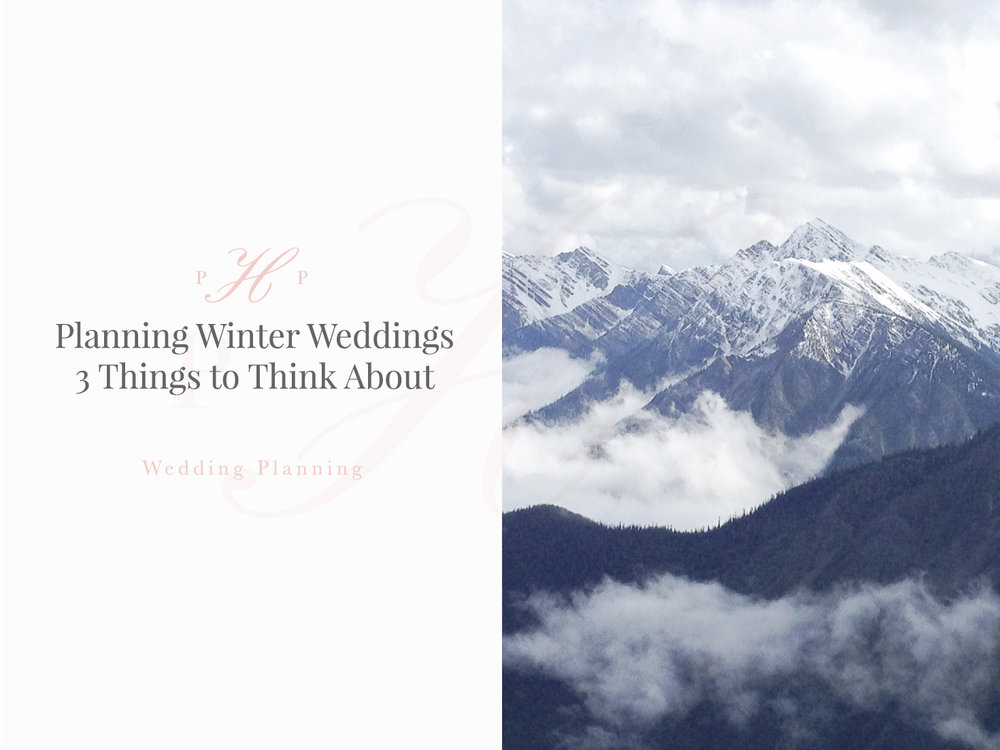 Planning Winter Weddings