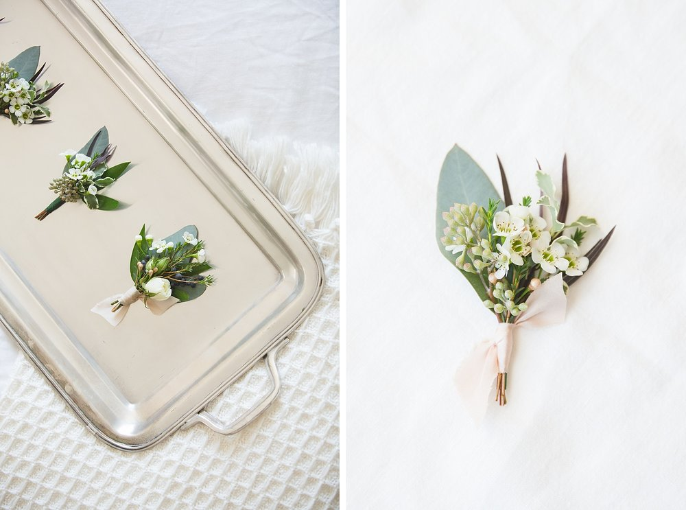 well styled boutonnieres