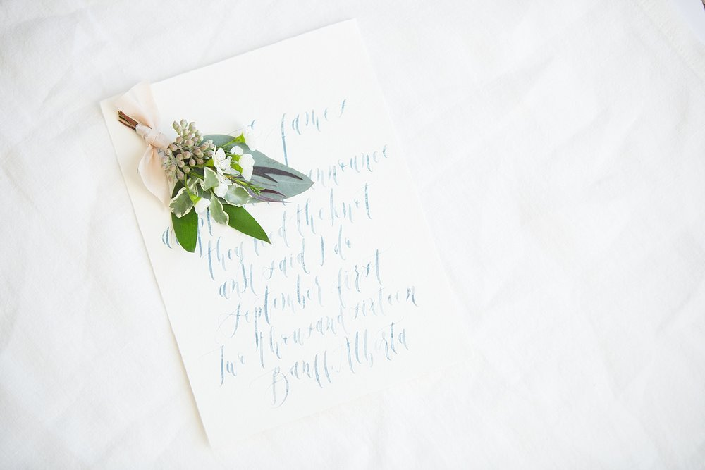 Calgary wedding photography invitation suite Art & Alexander