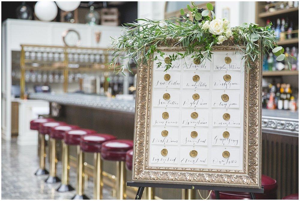 Royale Brasserie Wedding Seating Chart Calgary Photography
