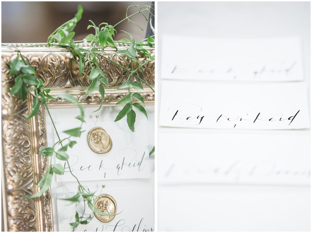 Romantic Seating Chart Style Inspiration with Social & Co Weddings Calgary