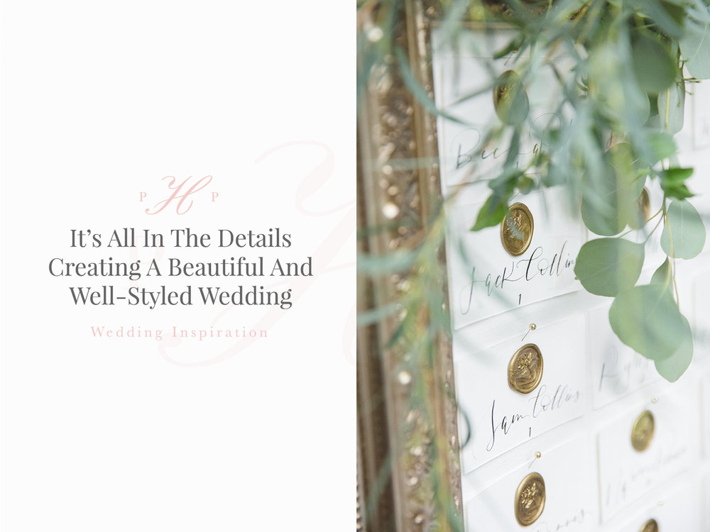 well styled wedding inspiration for seating charts by Social & Co Events
