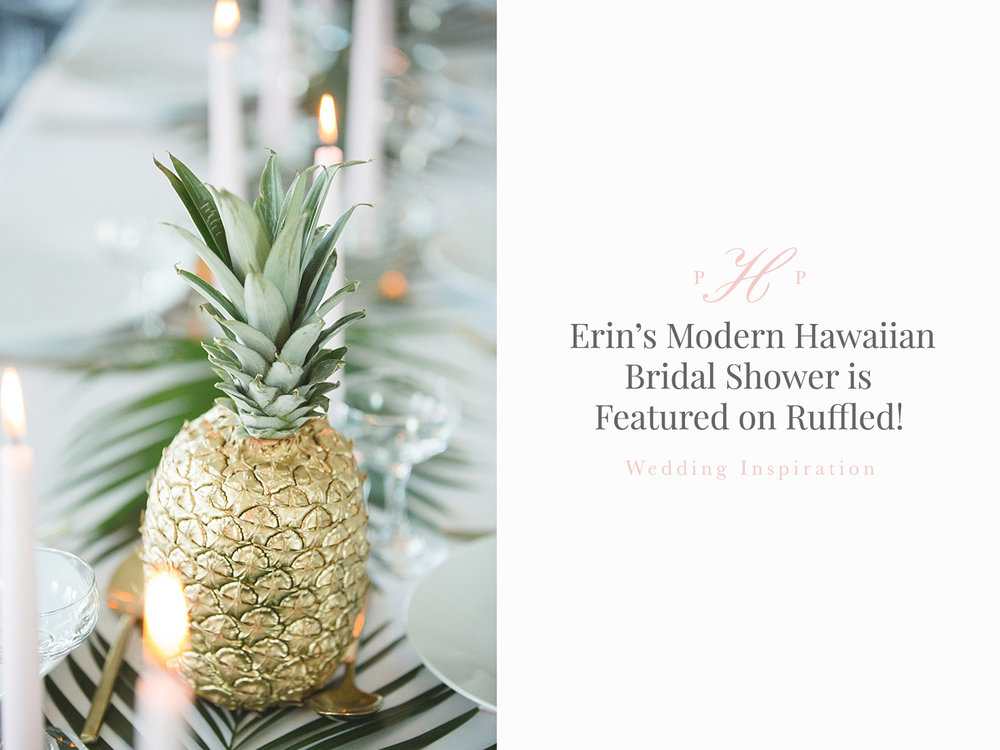 styled hawaiian bridal shower photography