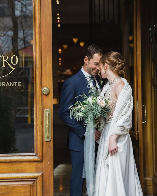 Something gorgeous is coming... And you'll be able to see it all on @rockymtnbride in November!  In the meantime, enjoy this little preview featuring all of these talented vendors.  Styling: @socialandcoevents  Photography: @parrishhousephotos  Dress: @blushandravenyyc  Bouquet: @fallforflorals  Hair & Makeup: @_katielynnkerr  Stationary: @artandalexander  Venue: @teatrorestaurant @teatrogroupweddings  Newlyweds: Jenny + Jon