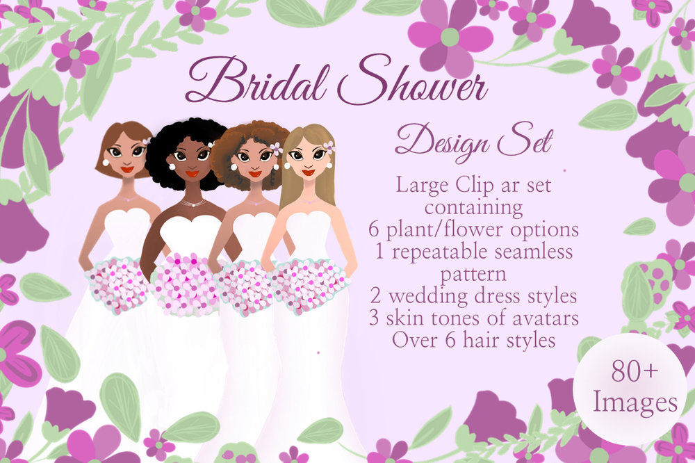 bridal shower design set