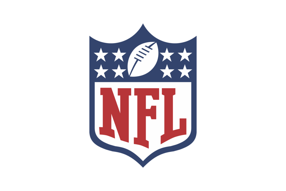 NFL - Emblem - A font with a symbol inside a seal or crest.
