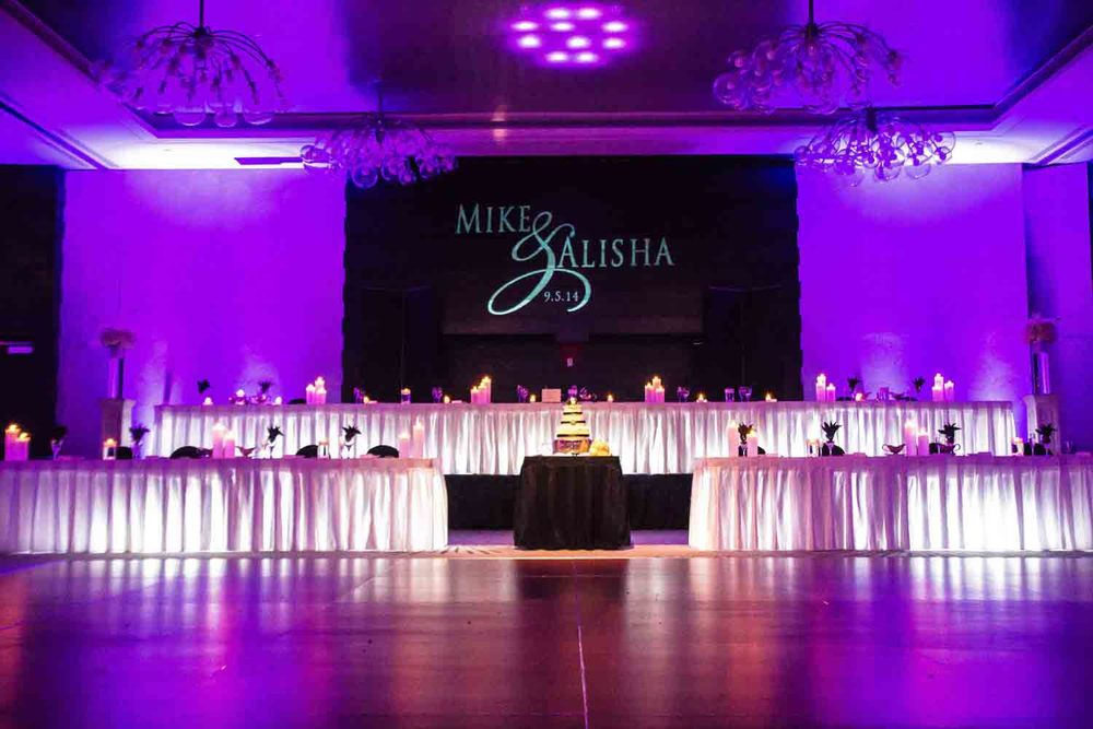 Head Table Lighting and Monogram