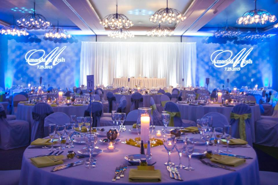 Wedding Lighting and Monograms