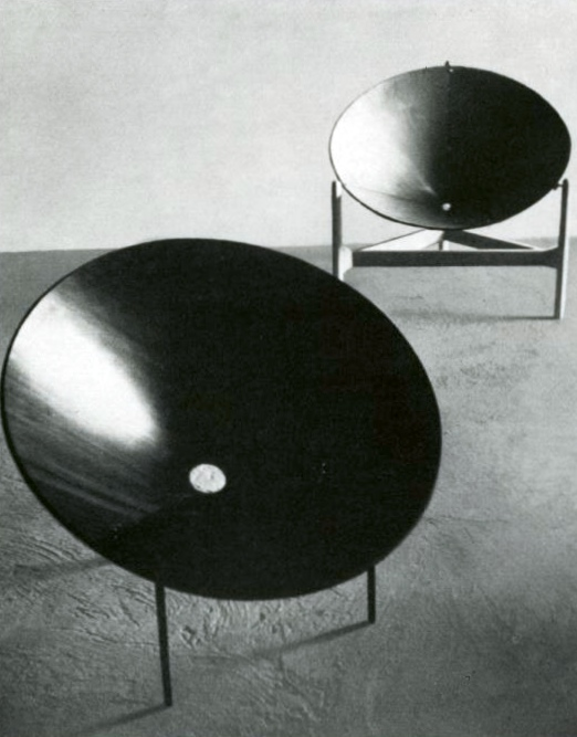 Continuing This Tradition Were Three Circular Chair Designs From The Late  1960u0027s. In The Case Of Armanu0027s 1969 Chair For Atelier A, Consisting Of Two  Steel ...