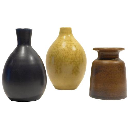 Group Of Three Vases By Erich And Ingrid Triller Weinberg Modern