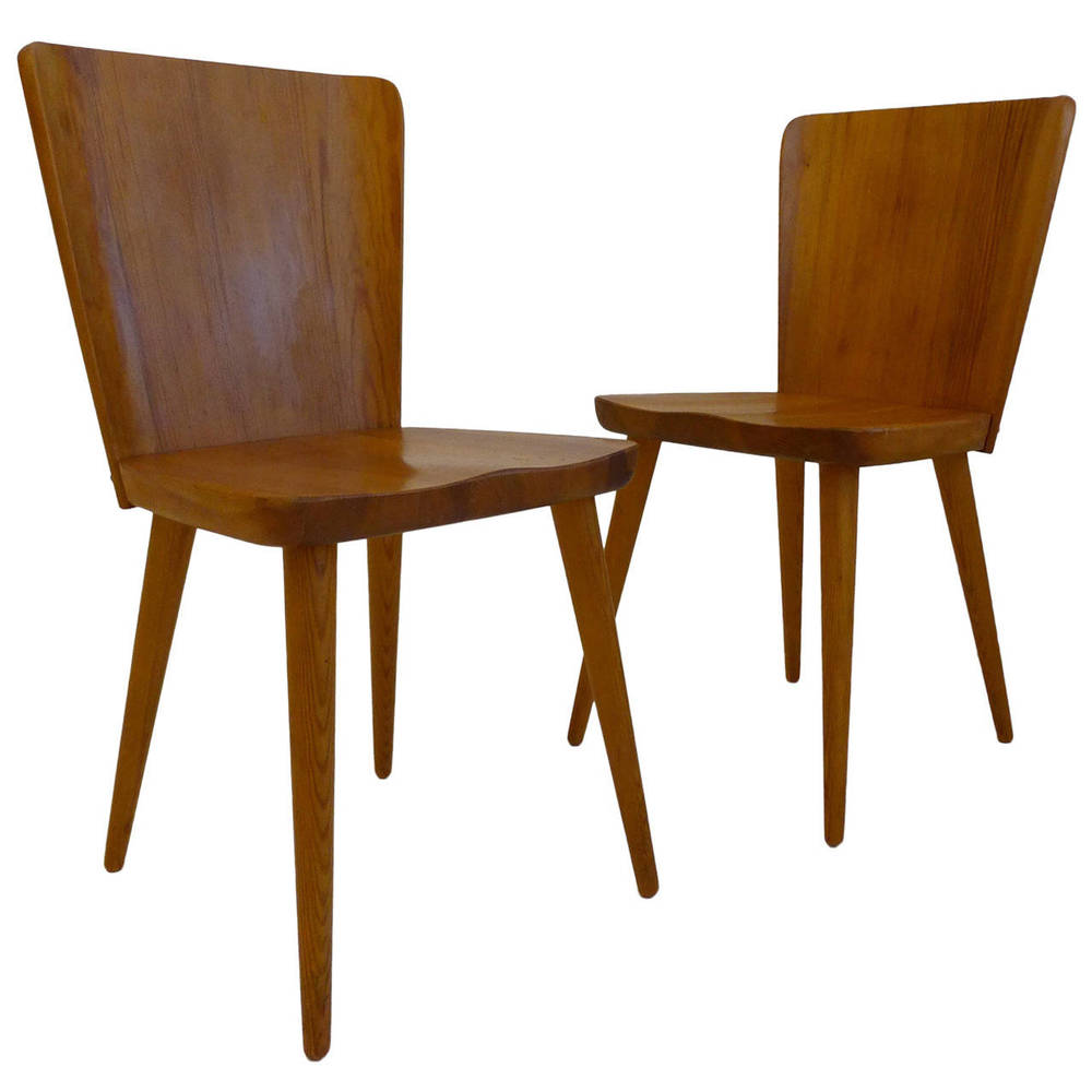 Pair Of Mid Century Swedish Chairs In Pine (HOLD)