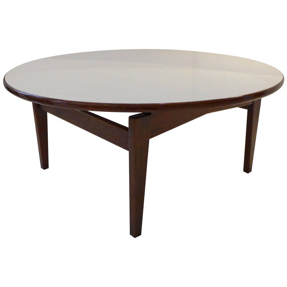 Jens Risom Cocktail Table with White Laminate Top WEINBERG MODERN