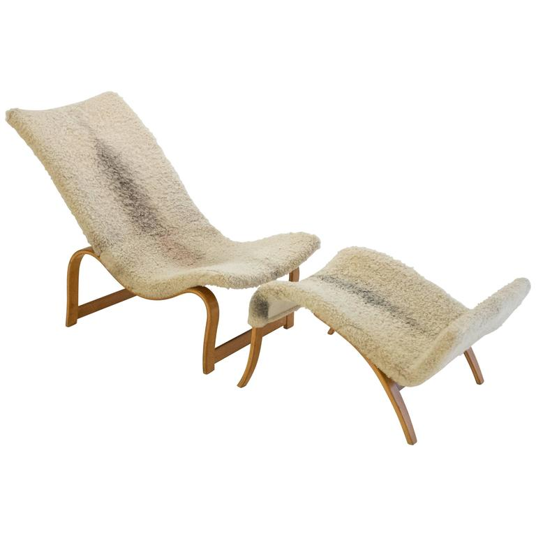 Bruno Mathsson Model 36 Easy Chair With Footrest (HOLD)