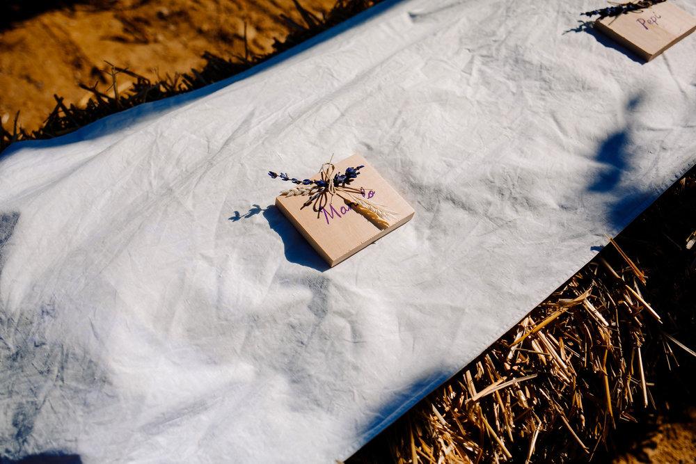 Reservados de madera - Con Lavandas y Trigo y rotulados a mano