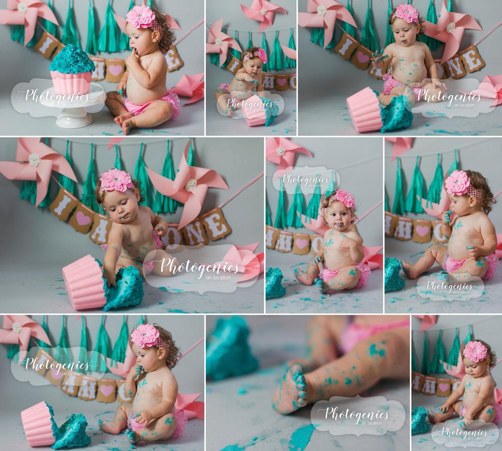 12_month_birthday_girl_cake_smash_flowers_ideas_pink_teal_set 3.jpg
