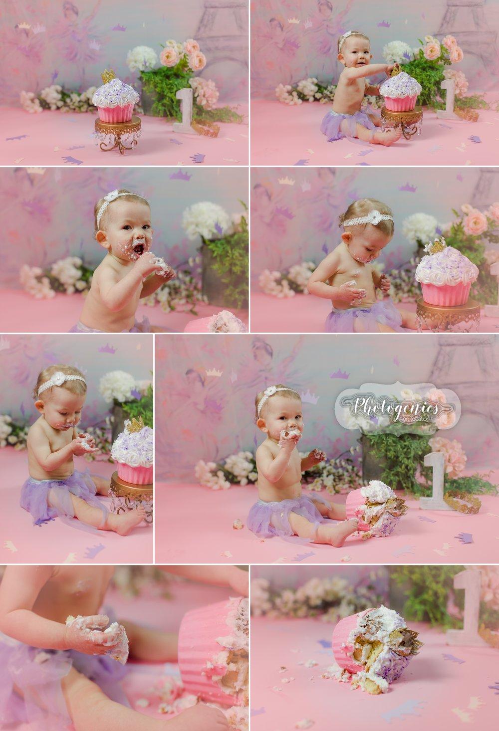 cakesmash_paris_girly_heidi_hope_backdrop_pink_crowns_princess_12_months_photography_st_louis_mo_photographer_cake_smash_first_bday